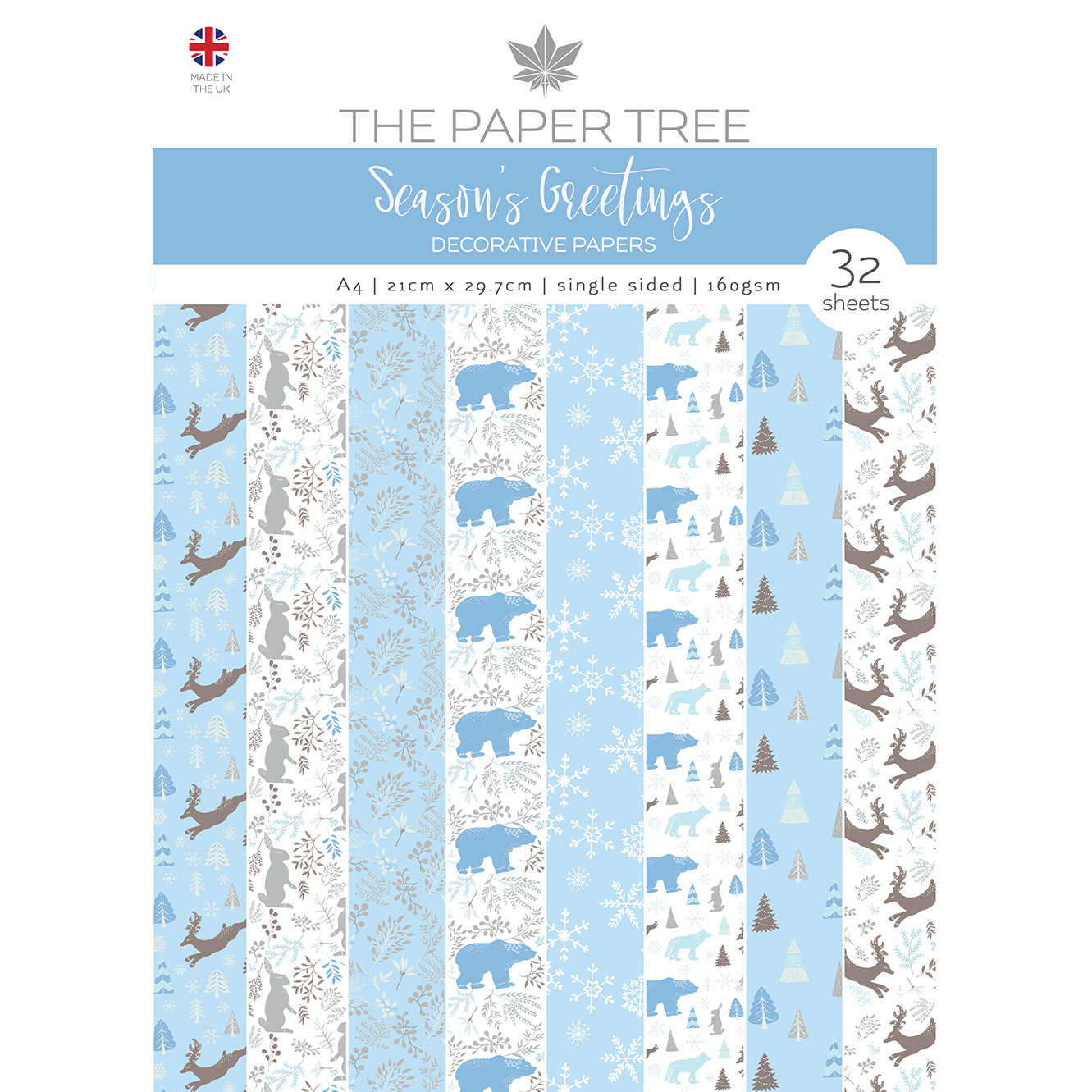 The Paper Tree Season's Greetings A4 Decorative Papers