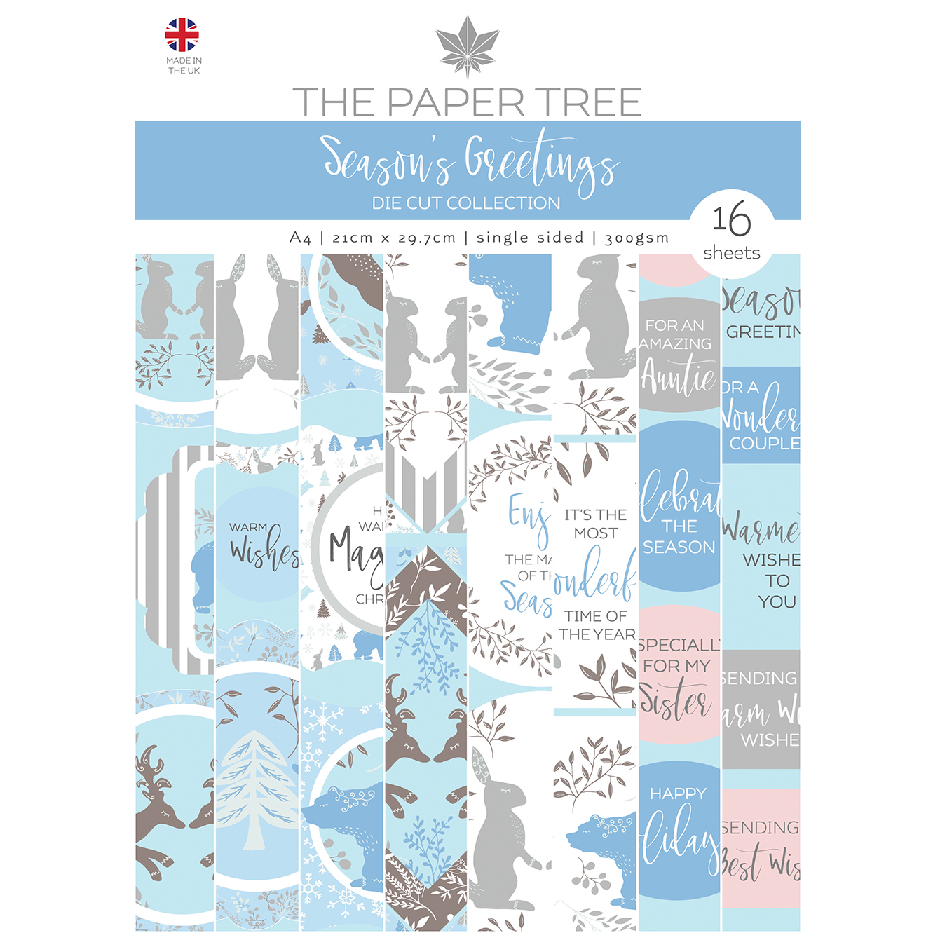 The Paper Tree Season's Greetings A4 Die Cut Collection