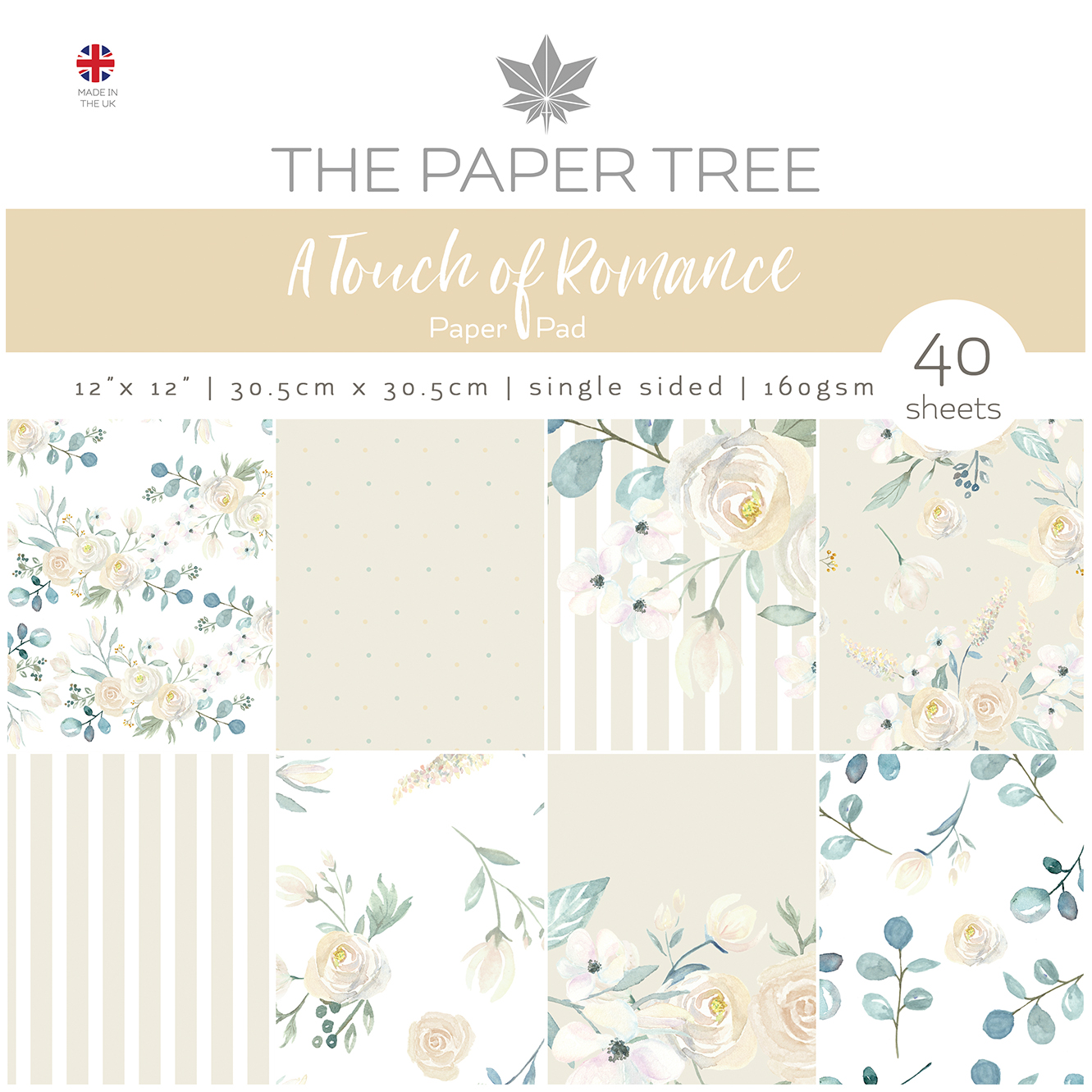 The Paper Tree A Touch of Romance 12″ x 12″ Paper Pad