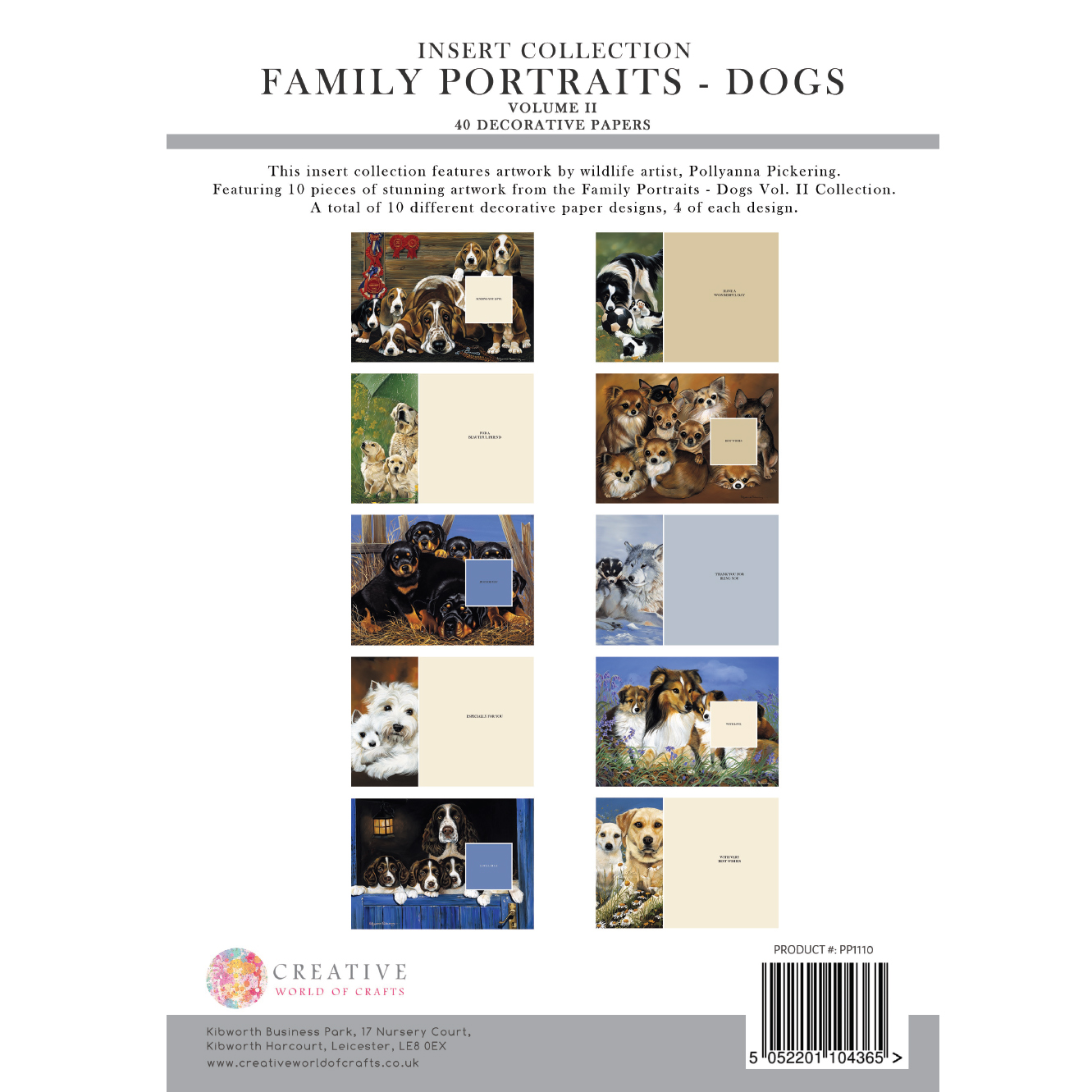 Pollyanna Pickering Family Portraits – Dogs Vol. II Inserts Collection