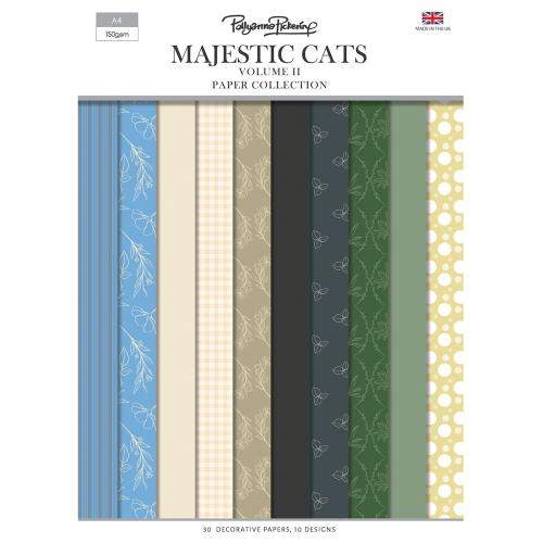 Pollyanna Pickering's Majestic Cats Vol.II Backing Papers