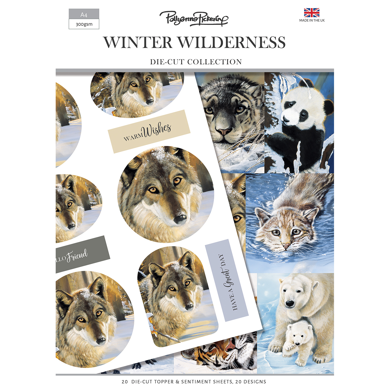 Pollyanna Pickering Winter Wilderness Die Cut Toppers and Sentiments Collection