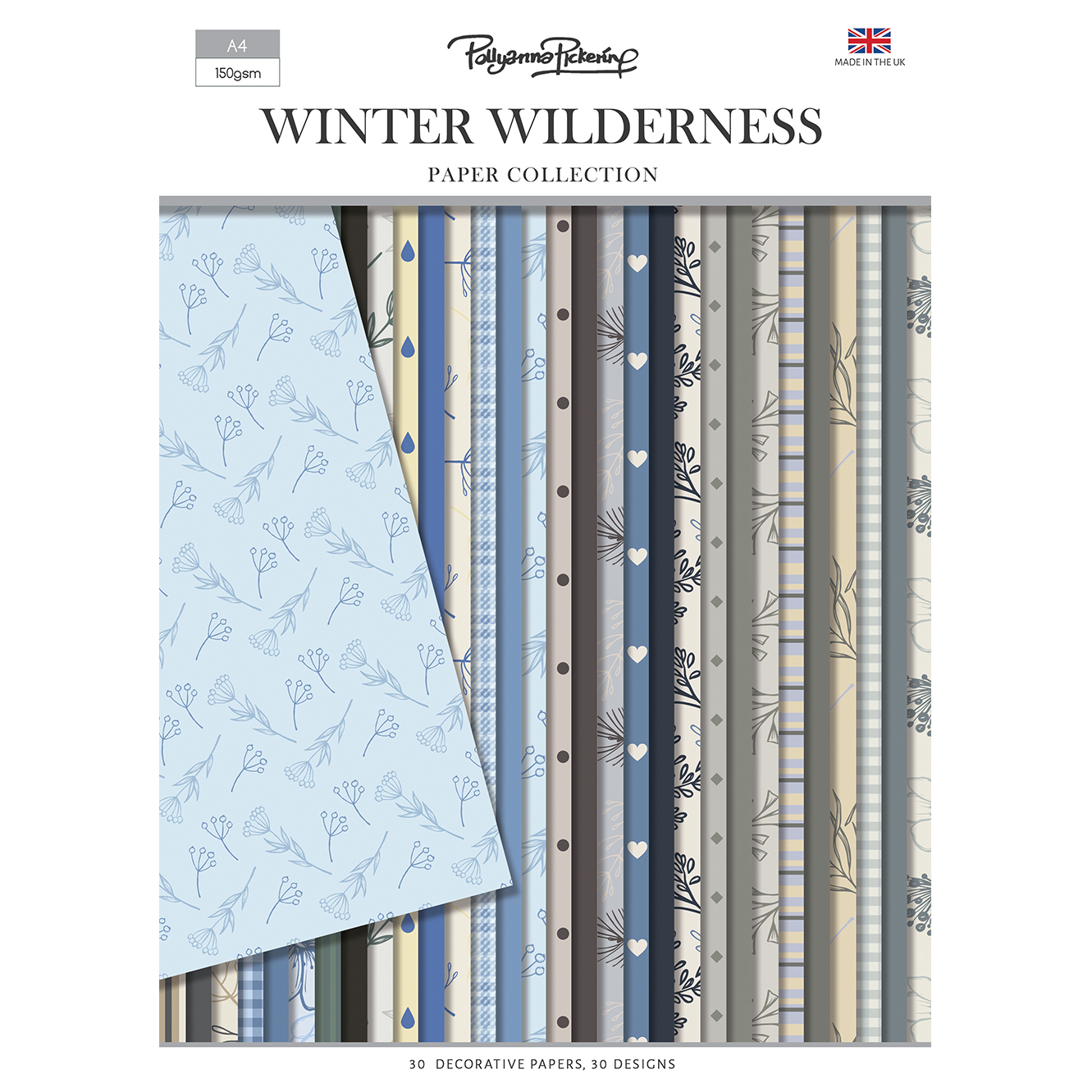 Pollyanna Pickering Winter Wilderness Backing Paper Collection