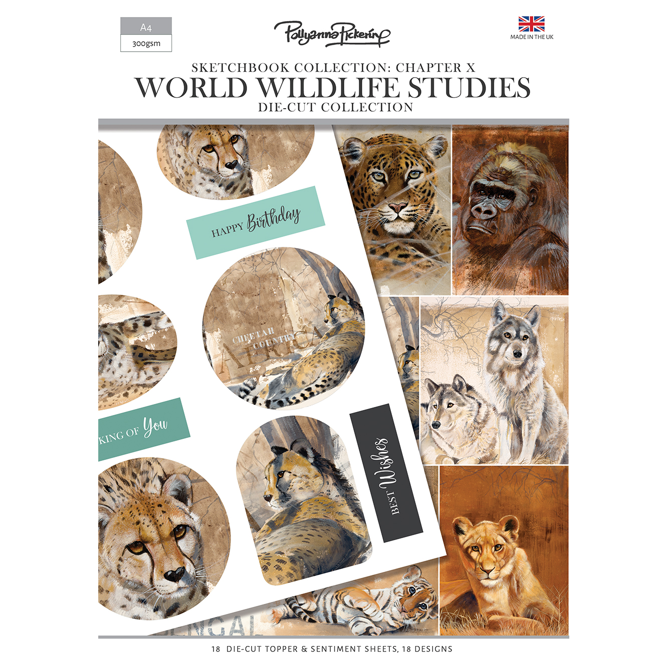 Pollyanna Pickering's Sketchbook Collection Chapter X World Wildlife Studies – Die Cut Collection