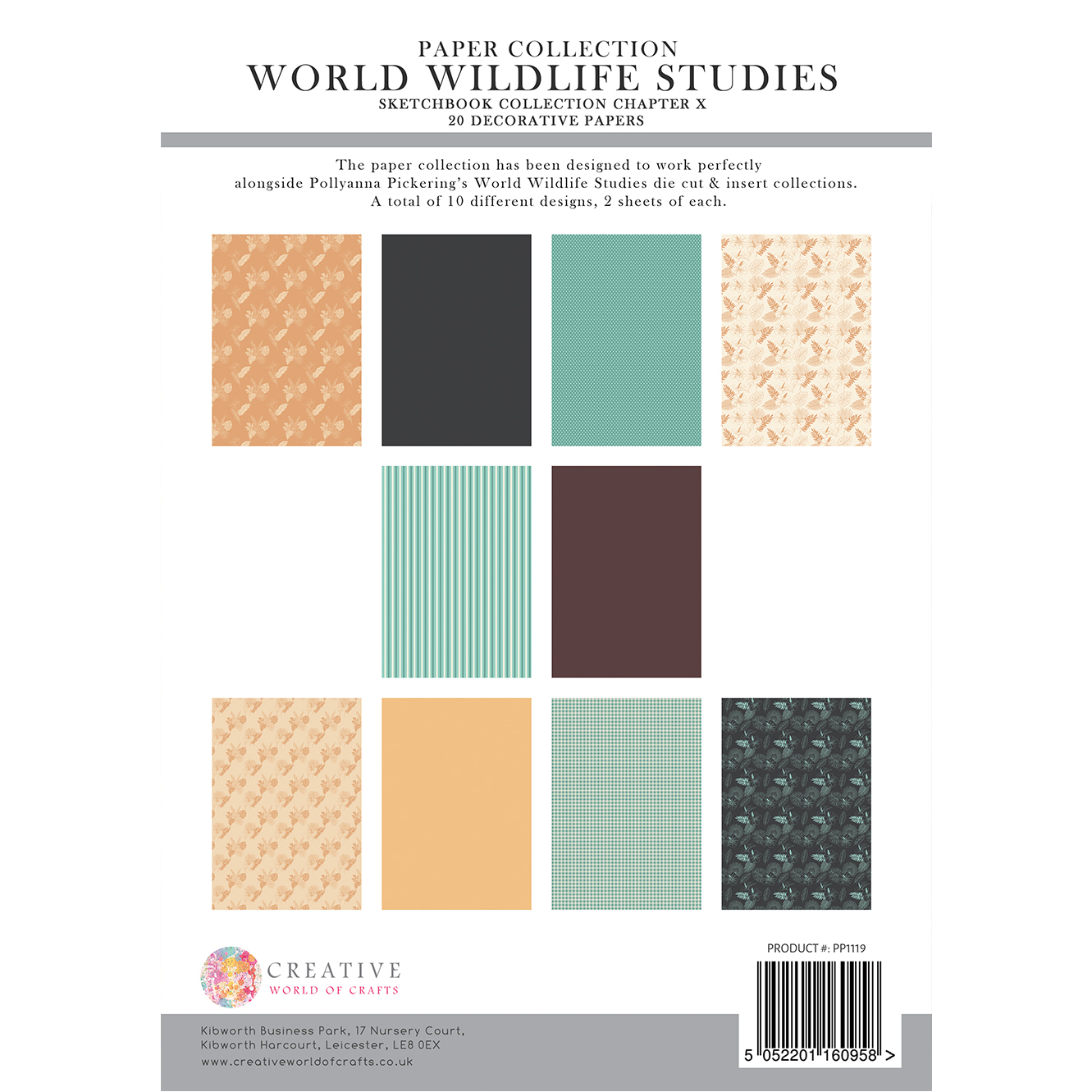 Pollyanna Pickering's Sketchbook Collection Chapter X World Wildlife Studies – Backing Papers