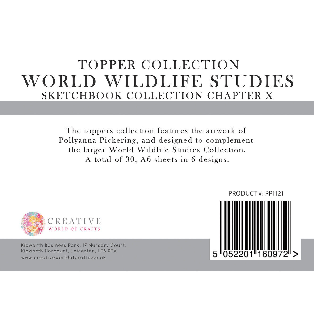 Pollyanna Pickering's Sketchbook Collection Chapter X World Wildlife Studies – A6 Toppers