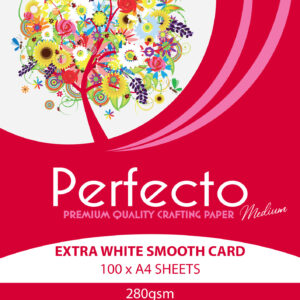 Perfecto 280gsm Extra White Card Stock A4 – 100 Sheets