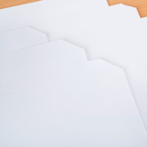 Lynda Chapman's World of Paper Super Value White Card 250gsm 60 x 12 x 12 Sheets