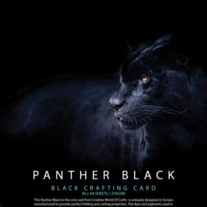 Panther Black 210gsm Card – 50 A4 Sheets